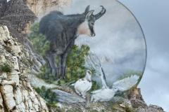 Marzo - Dipinto di Elvio De Pan, sfondo e composizione di Ariondo Schiocchet