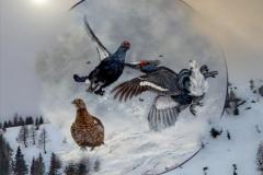 Aprile - Dipinto di Elvio De Pan, sfondo e composizione di Ariondo Schiocchet