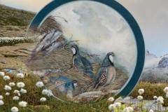 Luglio - Dipinto di Elvio De Pan, sfondo e composizione di Ariondo Schiocchet