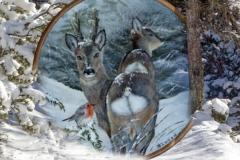 Dicembre - Dipinto di Elvio De Pan, sfondo e composizione di Ariondo Schiocchet