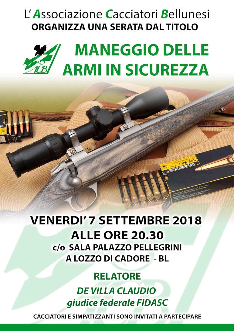 Maneggio armi in sicurezza